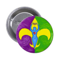 Femme de lis 2 inch round button