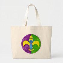 Femme de lis jumbo tote bag
