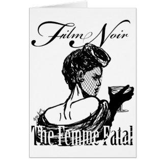 Femme fatal tarjeta de felicitación