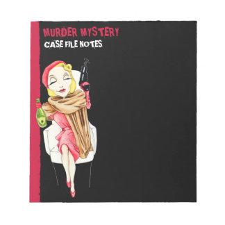 Femme Fatale black Murder Mystery Small Notepad