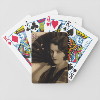 Femme Fatale in Sepia Bicycle Playing Cards
