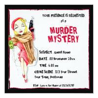 Femme Fatale Murder Mystery Invitation