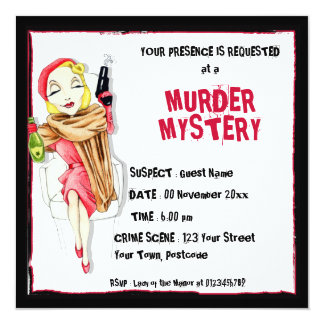 Femme Fatale Murder Mystery Invitation