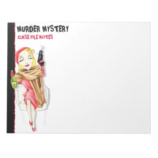 Femme Fatale Murder Mystery Large Notepad