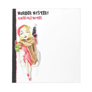 Femme Fatale Murder Mystery Small Notepad