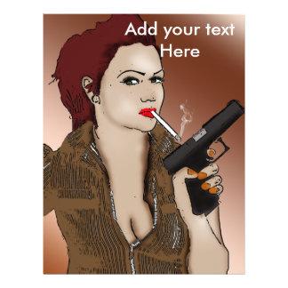 Femme Fatale - Smoking and Guns Flyer