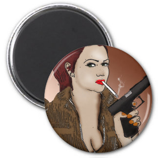 Femme Fatale - Smoking and Guns Magnet
