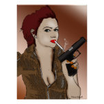 Femme Fatale - Smoking and Guns Poster