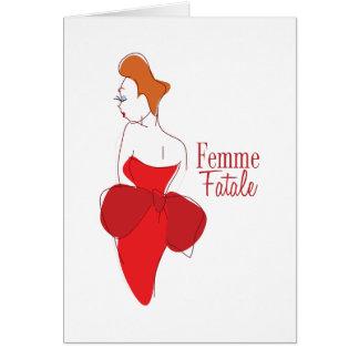 Femme Fatale Tarjeta De Felicitación