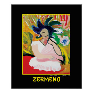 """Femme Fauve"" by Zermeno Poster"