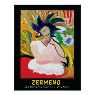 """""""Femme Fauve"""" by Zermeno (without frame) Posters"""