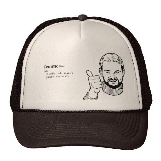 FEMME lesbian Trucker Hat