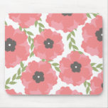 Femme Pink Floral Pattern Mouse Pads