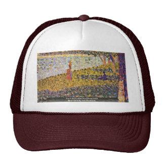 Femmes Au Bord De L'Eau By Seurat Georges Trucker Hat