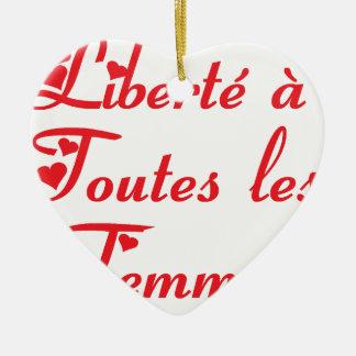 FEMMES.png FREEDOM Ceramic Ornament