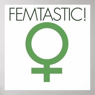 Femtastic Female symbol Poster