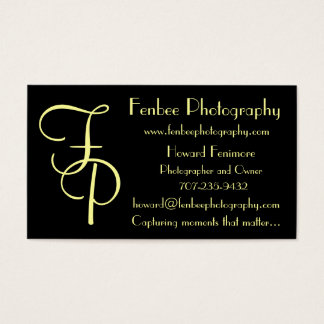 Fenbee-Classic Black Business Card