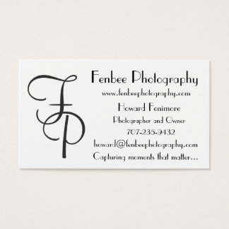 Fenbee-Classic White Business Card