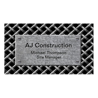 Fence and Galvanized Plate Business Card