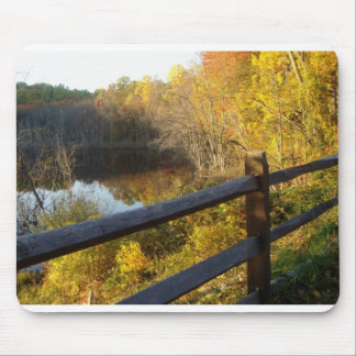 Fence and lake great pic!! mouse pad