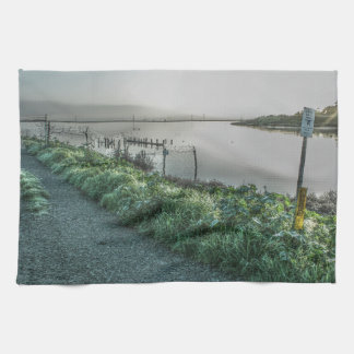 Fence and Slough Kitchen Towel