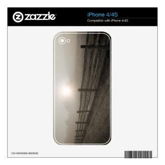 Fence and Sunburst Through Fog near Sharon iPhone 4S Decal