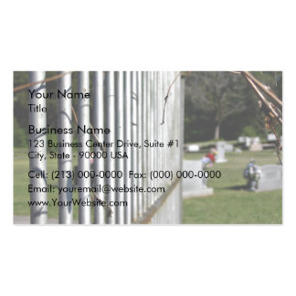 Fence at a cemetery Double-Sided standard business cards (Pack of 100)