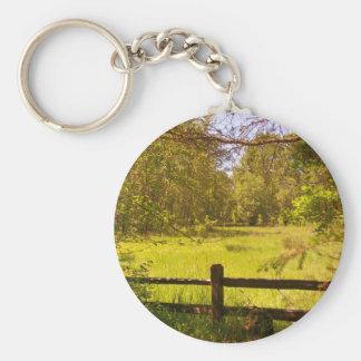 Fence at Oaks Bottom Basic Round Button Keychain