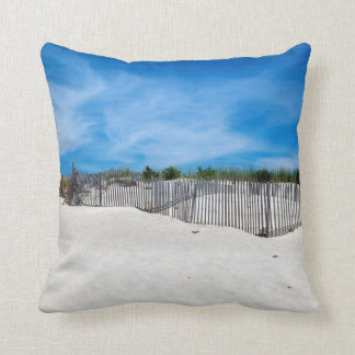 Fence - Bridgehampton, NY Throw Pillow