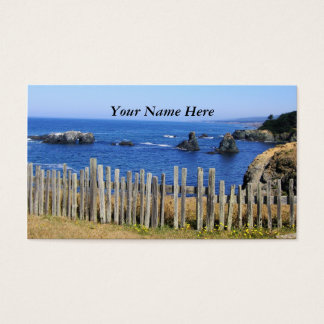 Fence by the Sea Business Card