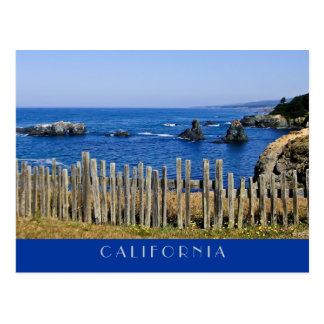 Fence by the Sea Postcard