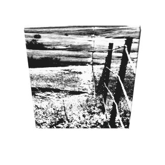 Fence in Black and White canvas print