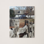 Fence in Colonial Williamsburg Jigsaw Puzzles