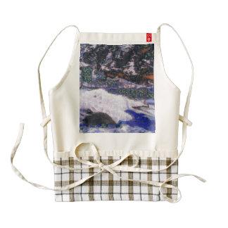 Fence in winter zazzle HEART apron