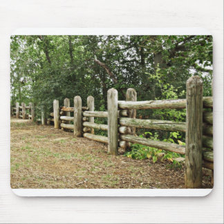 Fence line mouse pad
