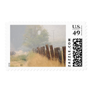 Fence Line Postage Stamps
