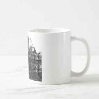 fence coffee mug