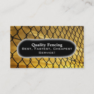 Chain link fence business cards templates zazzle fence photo business card colourmoves