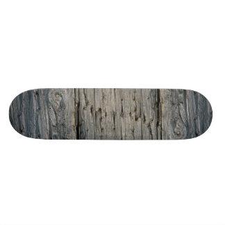 Fence post close-up skateboard decks