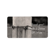 Fence Post Country Wedding Thank You Favor Tags