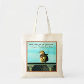 Fence Sitter Budget Tote Bag