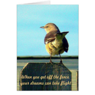 Fence Sitter Blank Note Cards (inspirational)