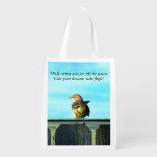 Fence Sitter Grocery Bag