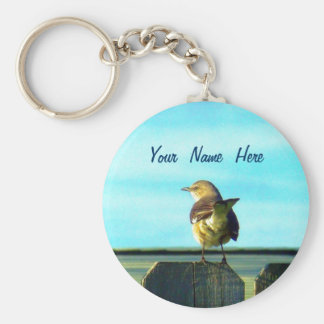 Fence Sitter Personalized Keychain
