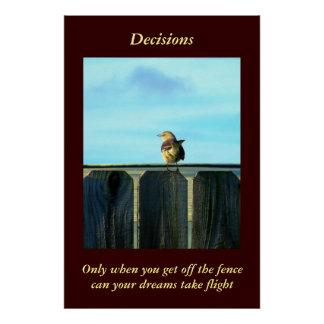 Fence Sitter Posters