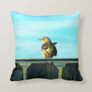 Fence Sitter Throw Pillow