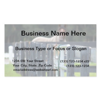 fence with faded horse behind business card template