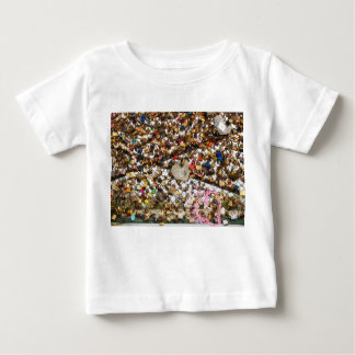 Fence with padlocks of love photography baby T-Shirt
