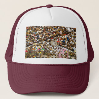 Fence with padlocks of love photography trucker hat
