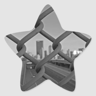 Fenced in City Star Sticker